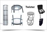 Mobiele vitrinebalie Twister 106cmx58Ø_