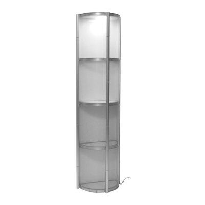 mobiele halfronde vitrine Twister 56x28x200cm