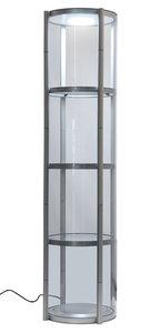 Twister mobiele vitrine zuil 60Øx200cm