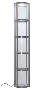 ronde mobiele vitrinekast