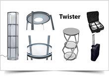 Mobiele vitrinebalie Twister 106cmx58Ø